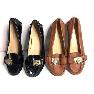 Cole Haan black and brown loafers size 6